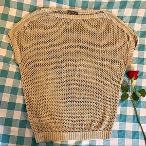 Tommy Bahama Open Knit Linen Dolman Top Blouse